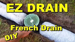 backyard sump ez flow french drain youtube
