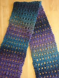 fiber flux free knitting pattern tweedy eyelet scarf