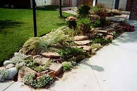 Rock Garden Landscaping Ideas End Of Driveway Landscaping Ideas Natural Rock Garden Terracing