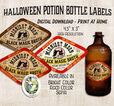 halloween apothecary jar labels halloween witch halloween potion apothecary bottle label digital