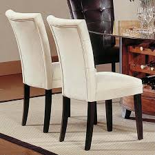 Fabric Chairs For Dining Room Steve Silver Company Matinee Fabric Parson Dining Chair In Beige