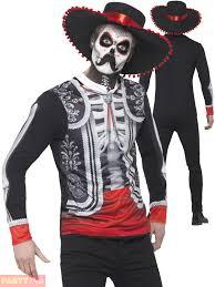 halloween fancy dress mens day of the dead el senor skeleton