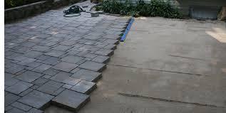 installation pattern of unilock pavers semco outdoor landscaping