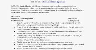 12 Amazing Education Resume Examples Livecareer by Health Educator Resume Permalink To 5 Educational Resume Examples