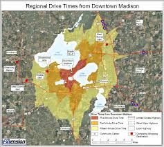 University Of Wisconsin Madison Map by Trade Area Analysis U2013 Downtown Market Analysis