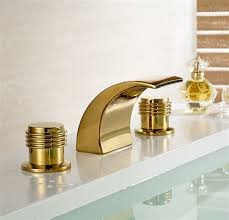 Led Bathroom Fixtures Gold Bathroom Faucet Gold Finish Brass Led Bathroom Sink Faucet