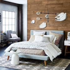 West Elm White Bedroom Mod Upholstered Bed West Elm Au