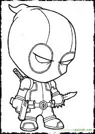 best chibi deadpool coloring pages chibi superheroes colouring