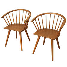 Maple Dining Chair Maple Dining Chairs Pair Of Conant Ball Maple Dining Chairs Circa