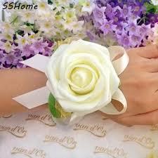 Prom Wrist Corsage Online Shop Wedding Or Prom Wrist Corsage With Bracelet Silk Rose