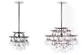 wine glass chandelier inhabitat green design innovation