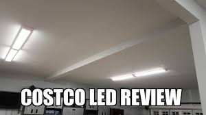 hardwired led shop lights costco feit 917972 4 led shop lights review youtube