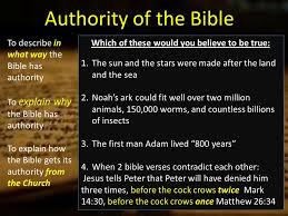 authority authority bible describe