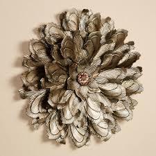 metal flowers delicate flower blossom metal wall sculpture