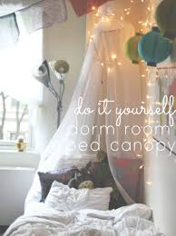 lavish red canopy bed curtain around with dark brown hardwood diy dorm easy bed canopy stay gold rebecca a lifestyle blog my mom and i diyd