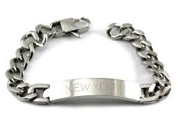 engravable id bracelet custom engraved id bracelets stainless steel tawnie brina