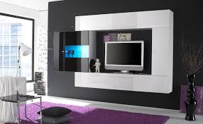 Unit Tv Charming Black Wall Unit Tv Stand Home Office Decoration Farmhouse