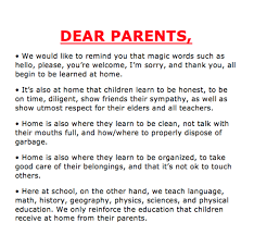 asks parents to take responsibility letter goes viral