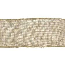 burlap ribbon 5 1 2 brown squared edge burlap ribbon hobby lobby 731935