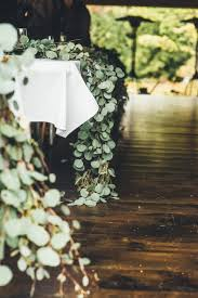 Leaf Table Runner Rustic Glam Cascading Magnolia Leaf Table Runner Wedding
