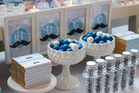 Blue Baby Shower Decorations Mustache Baby Shower Ideas Little Man Party