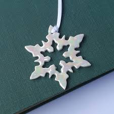 snowflake decorations porcelain of pearl snowflake christmas decoration