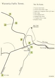 Victoria Falls Map Honeyguide Hotels