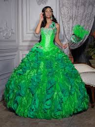 green quinceanera dresses dressed up