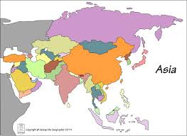 Blank Map Of Asia Asia Outline Map Without Countries Image Gallery Hcpr