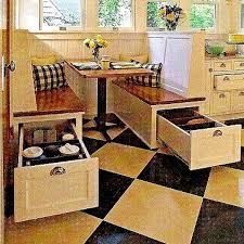 hidden storage solutions space saving booth style kitchen seating dining tiny house pins