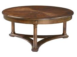 furniture beautiful natural low thick wood round coffee table