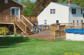 deck stairs to pool deck design and ideas