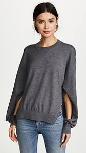sleeve sweater t by wang twisted sleeve sweater shopbop