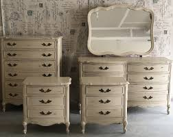 Hand Painted Bedroom Furniture by Hand Painted Distressed French Provincial Dixie Bedroom Set For Sale