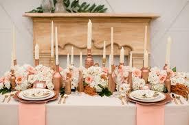 d coration mariage déco de mariage aux couleurs métalliques or argent ou cuivre