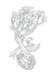 tribal neck tattoos tree bird designs