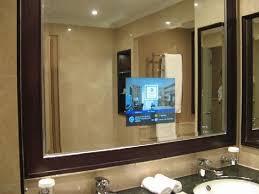 tv in a mirror bathroom mirror design ideas sle ideas bathroom mirror tv modern
