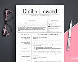 Advertising Resume Templates Resume Template Etsy