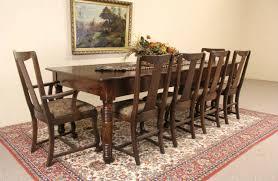 sold oak 1890 u0027s antique 8 u0027 farmhouse harvest dining table harp