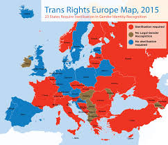 Red And Blue State Map by This Map Shows The Best And Worst Places In Europe To Be Trans