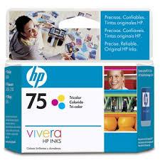 Conhecido HP 75 Cartucho de tinta Tricolor. Capacidad 3,5ml. - Hewlett  #AZ71