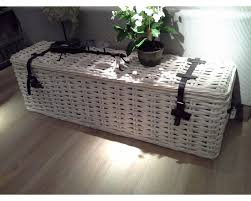 Long White Wash Table Storage Basket