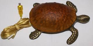 glass brass sea turtle lamp sea turtle nightlight sea life lamp