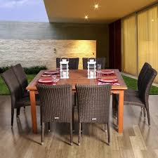 amazonia provence 8 person resin wicker patio dining set with