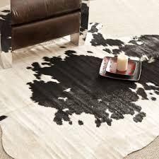 decor make your floor more cozy with charming cow skin rug for