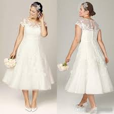 wedding dresses discount tea length plus size wedding dresses discount 2017 plus size