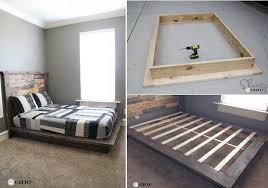 Plans For Wood Platform Bed by Easy Diy Platform Bed Free Plan Home Design Garden