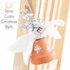terra cotta christmas bells muslin and merlot