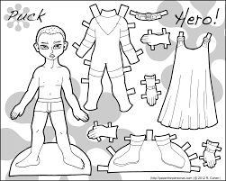 paper doll coloring pages coloring blog