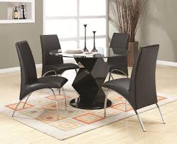 ophelia black wood and glass dining table set steal a sofa